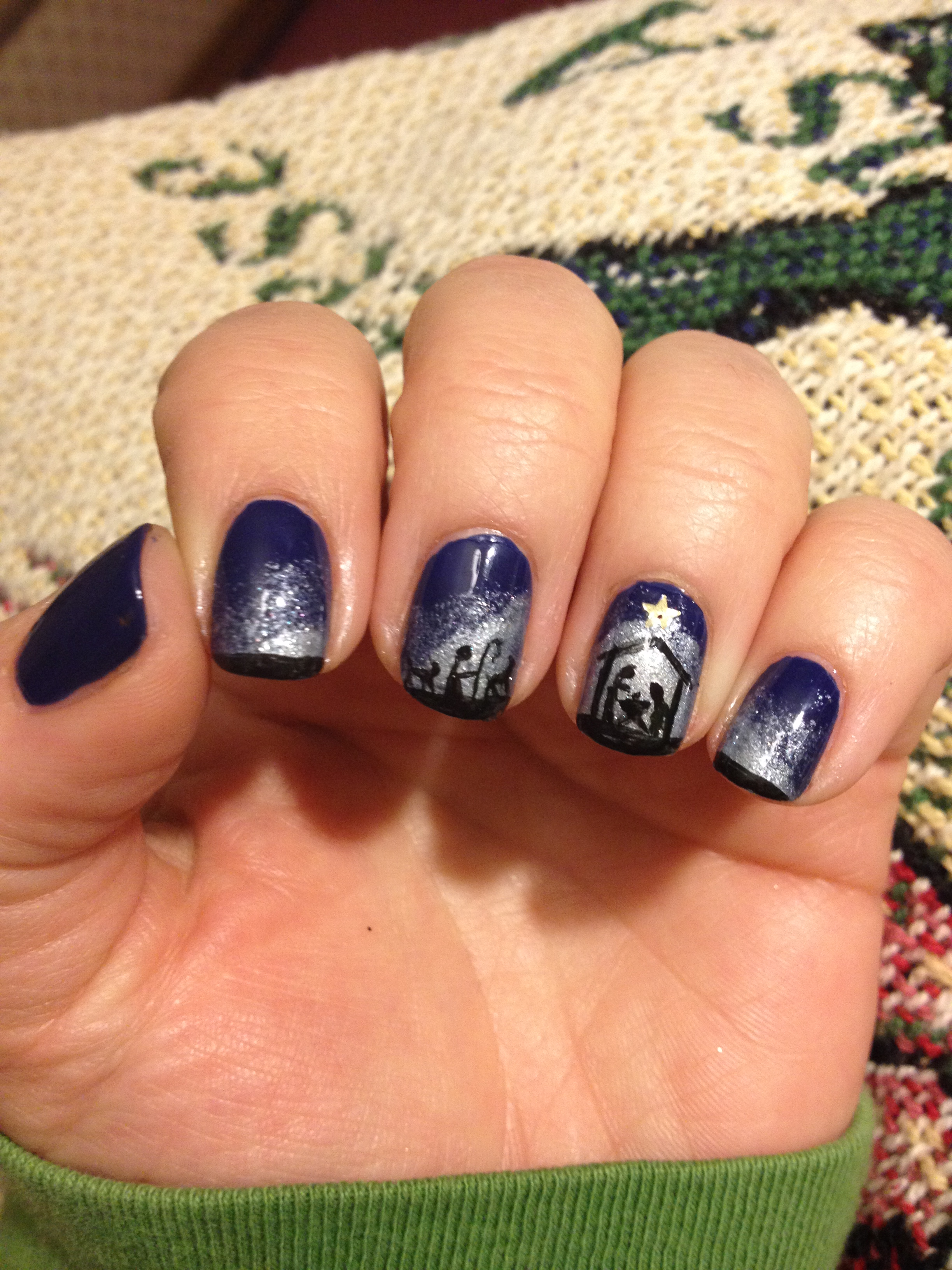 nativity nail art – Polish Me Snazzy