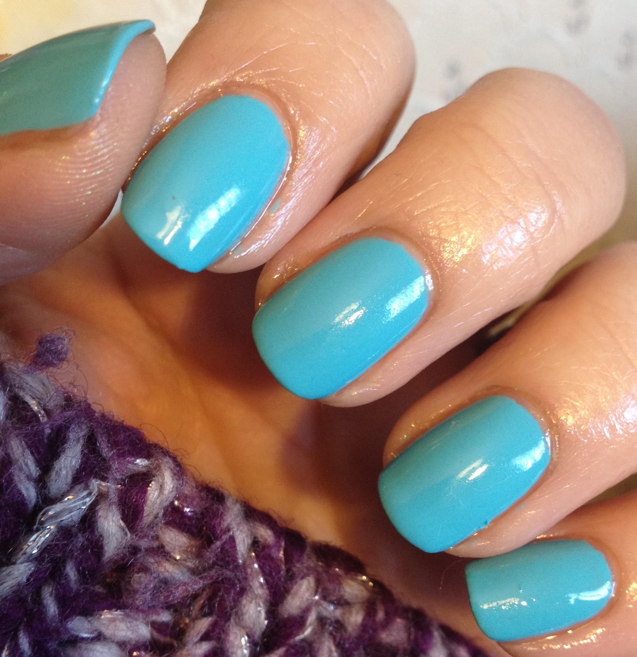 Frosty Blue Nails – Polish Me Snazzy