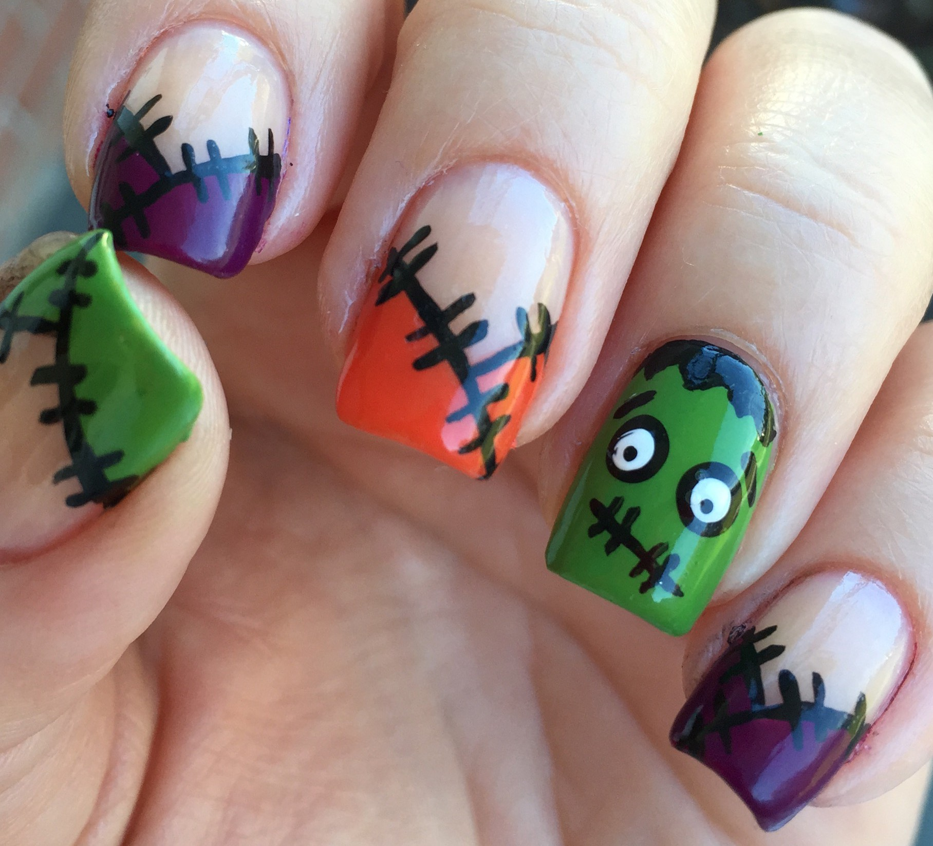 Monster of Frankenstein Nails – Polish Me Snazzy