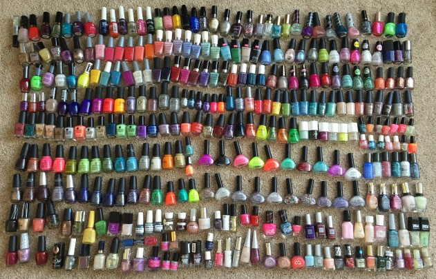 Here's my whole collection after I got them all organized!  Aren't they so pretty?